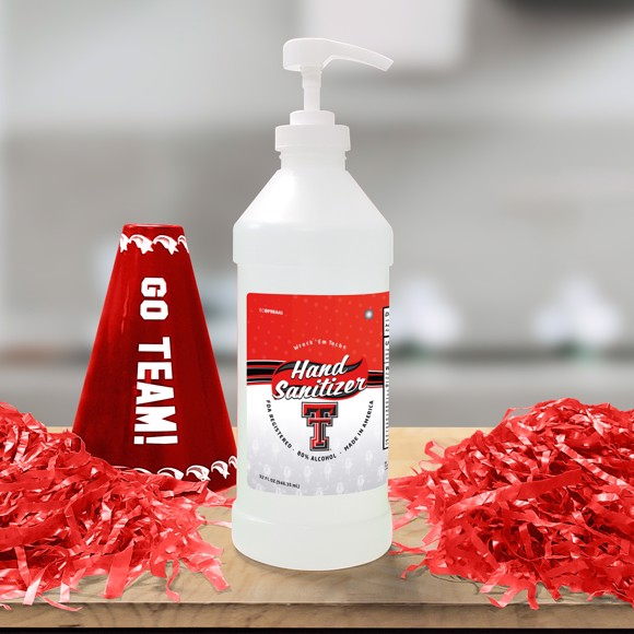 Picture of Texas Tech 32 oz. Hand Sanitizer with Pump Top - 4 PACK