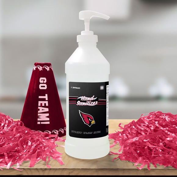 Picture of Arizona Cardinals 32 oz. Hand Sanitizer with Pump Top - 4 PACK