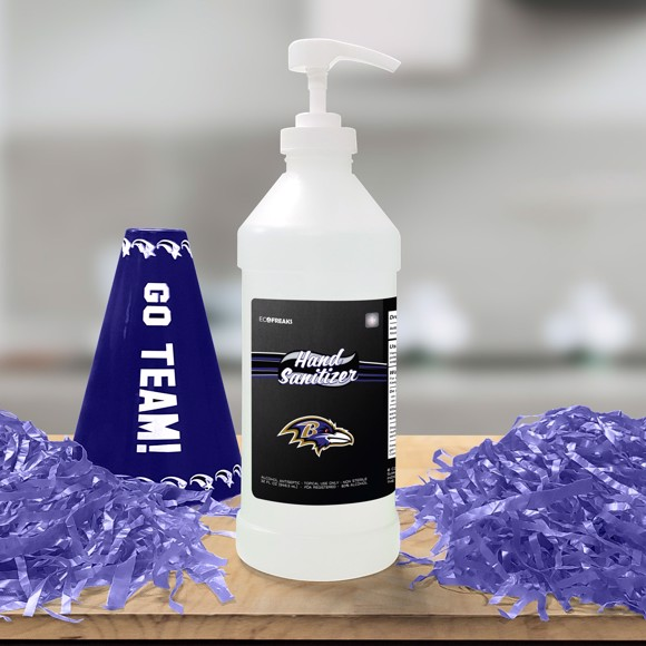 Picture of Baltimore Ravens 32 oz. Hand Sanitizer with Pump Top - 4 PACK