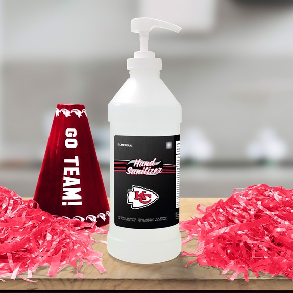 Picture of Kansas City Chiefs 32 oz. Hand Sanitizer with Pump Top - 4 PACK