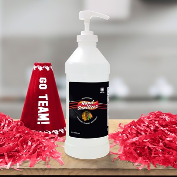 Picture of NHL - Chicago Blackhawks 32 oz. Hand Sanitizer with Pump Top - 4 PACK