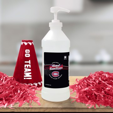 Picture of Montreal Canadiens 32 oz. Hand Sanitizer with Pump Top - 4 PACK