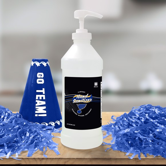 Picture of St. Louis Blues 32 oz. Hand Sanitizer with Pump Top - 4 PACK