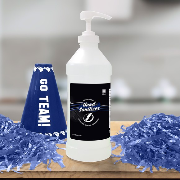 Picture of Tampa Bay Lightning 32 oz. Hand Sanitizer with Pump Top - 4 PACK