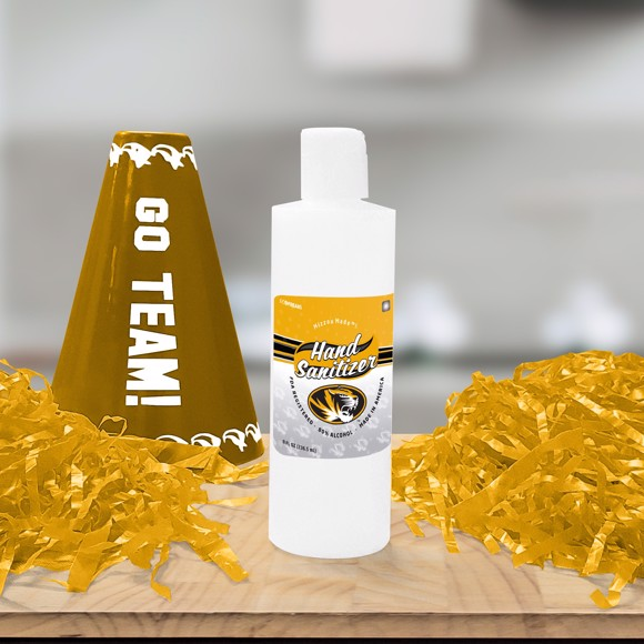 Picture of University of Missouri 8 oz. Hand Sanitizer with Flip Cap - 4 PACK
