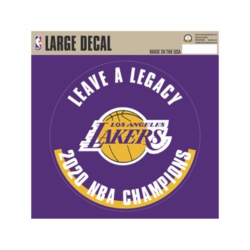 Picture of NBA - Los Angeles Lakers 2020 NBA Champions Large Decal