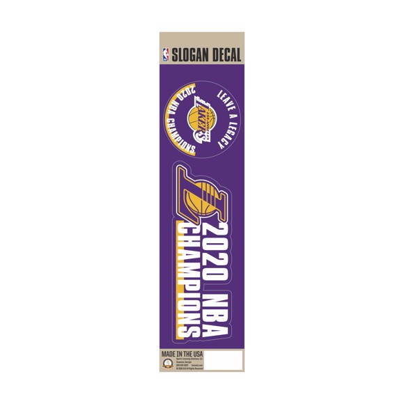 Picture of NBA - Los Angeles Lakers 2020 NBA Champions Team Slogan Decal