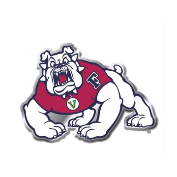 Picture of Fresno State Embossed Color Emblem 2