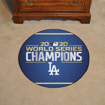 Picture of MLB - Los Angeles Dodgers 2020 World Series Champions Round Rug Mat