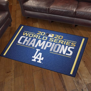 Picture of MLB - Los Angeles Dodgers 2020 World Series Champions 3x5 Plush Rug