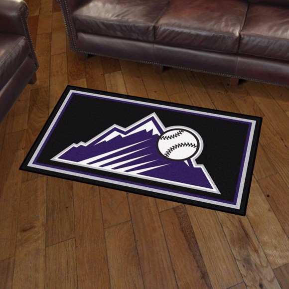 Picture of Colorado Rockies 3x5 Plush Rug