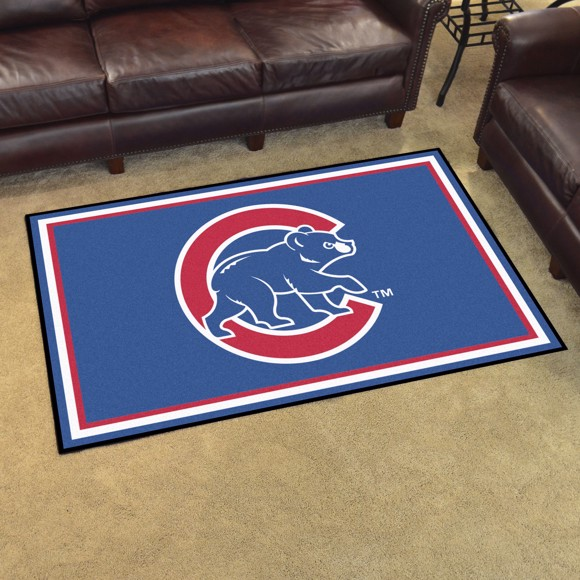 Picture of Chicago Cubs 4x6 Plush Rug