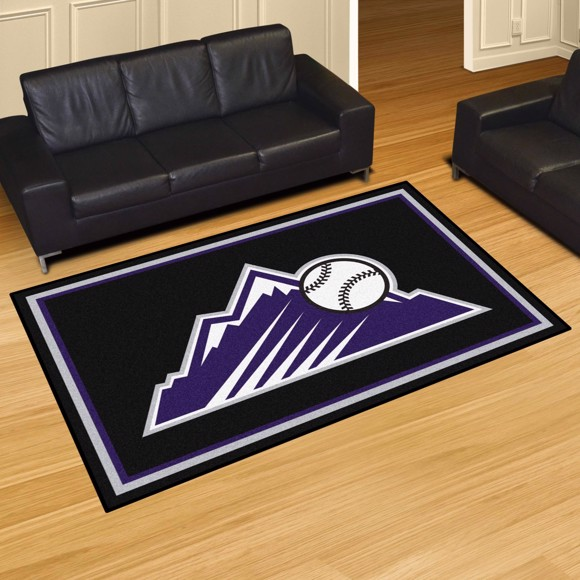 Picture of Colorado Rockies 5x8 Plush Rug