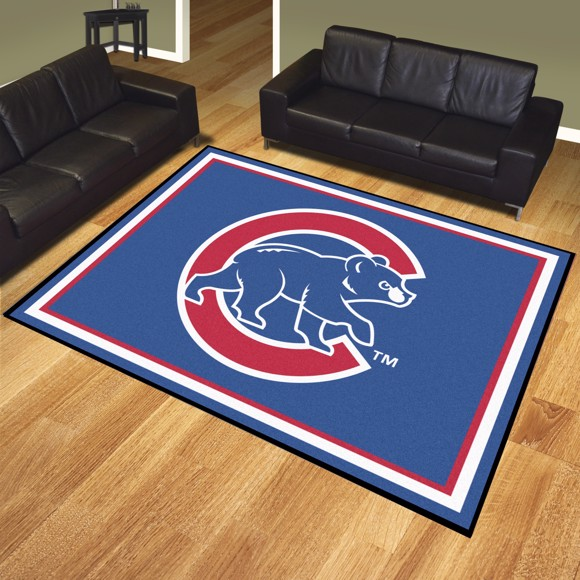 Picture of Chicago Cubs 8x10 Plush Rug