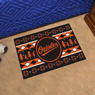 Picture of Baltimore Orioles Holiday Sweater Starter Mat