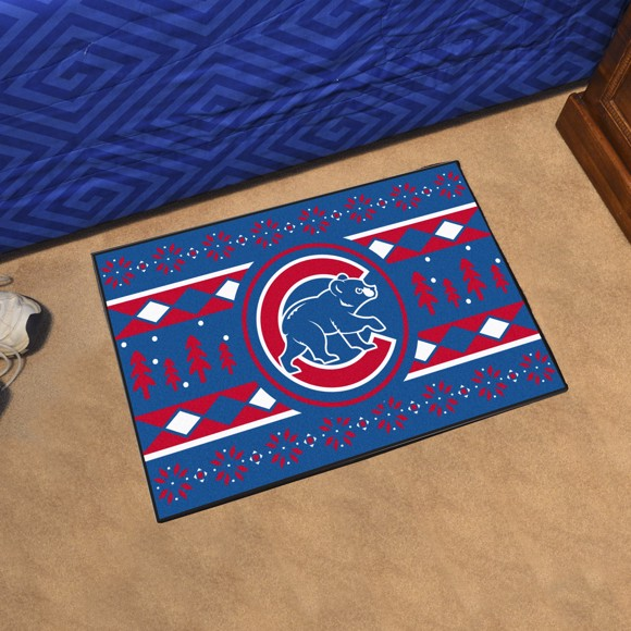 Picture of Chicago Cubs Holiday Sweater Starter Mat