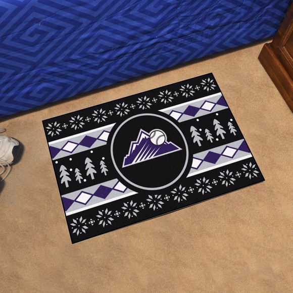 Picture of Colorado Rockies Holiday Sweater Starter Mat