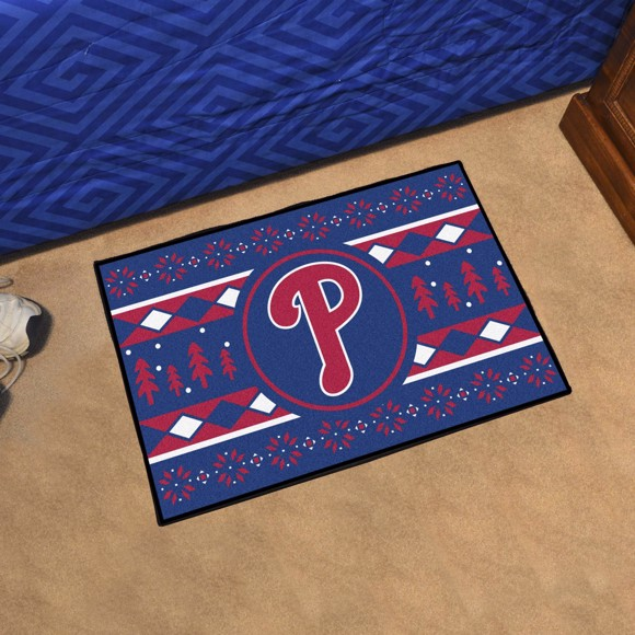Picture of Philadelphia Phillies Holiday Sweater Starter Mat
