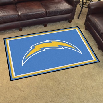 Picture of NFL - Los Angeles Chargers 4'x6' Plush Rug