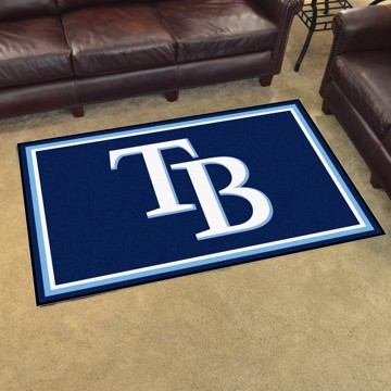 Picture of MLB - Tampa Bay Rays 4'x6' Plush Rug