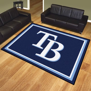 Picture of MLB - Tampa Bay Rays 8'x10' Plush Rug
