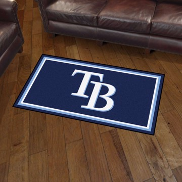 Picture of MLB - Tampa Bay Rays 3'x5' Plush Rug