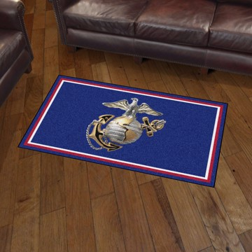 Picture of U.S. Marines 3'x5' Plush Rug
