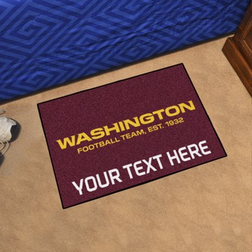Picture of NFL - Washington Football Team Personalized Starter Mat