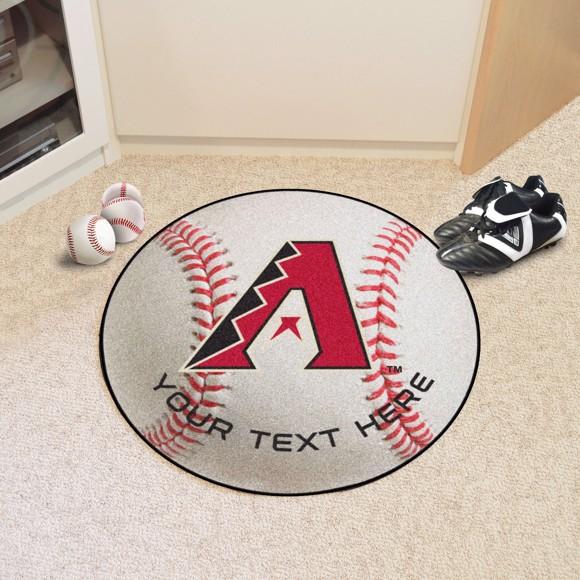 Picture of Arizona Diamondbacks Personalized Baseball Rug