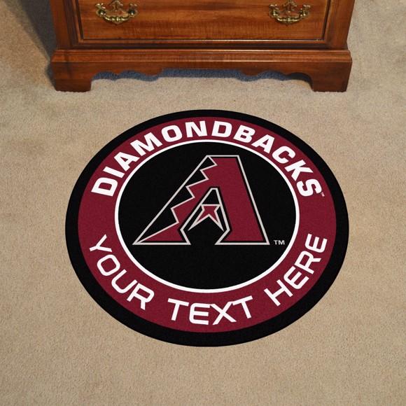 Picture of Arizona Diamondbacks Personalized Roundel Mat Rug