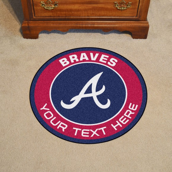 Picture of Atlanta Braves Personalized Roundel Mat Rug