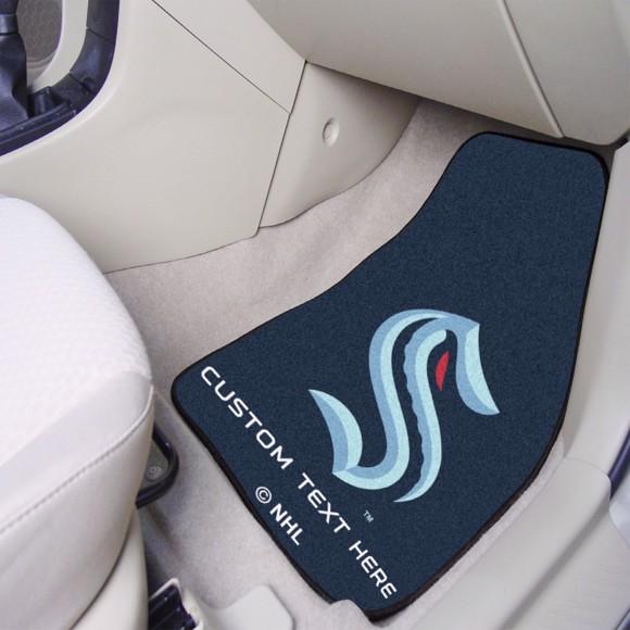 Picture of NHL - Seattle Kraken Personalized Carpet Car Mat Set