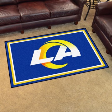 Picture of NFL - Los Angeles Rams 4'x6' Plush Rug