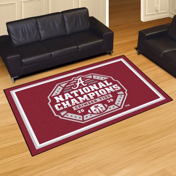Picture of Alabama 2020-21 National Champions 5x8 Plush Rug