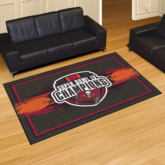 Picture of NFL - Tampa Bay Buccaneers Super Bowl LV Champions 5x8 Plush Rug