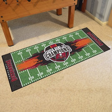 Picture of NFL - Tampa Bay Buccaneers Super Bowl LV Champions Football Field Runner