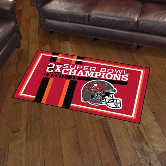 Picture of NFL - Tampa Bay Buccaneers Super Bowl LV Champions Dynasty 3X5 Plush Rug