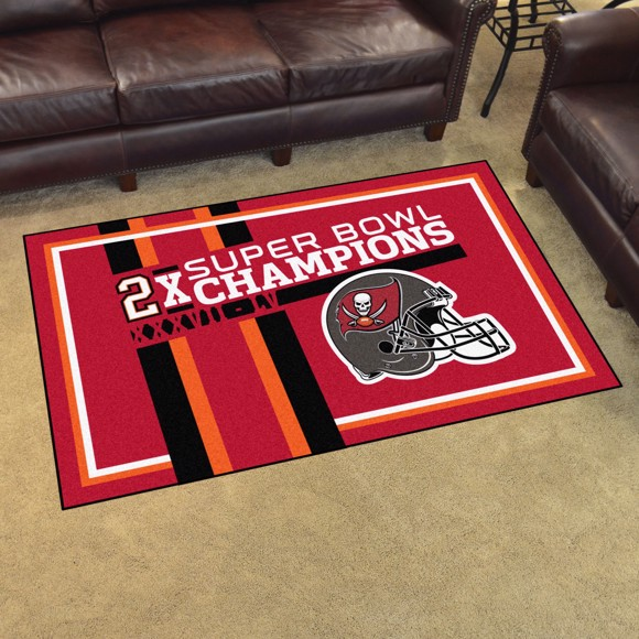 Picture of NFL - Tampa Bay Buccaneers Super Bowl LV Champions Dynasty 4X6 Plush Rug