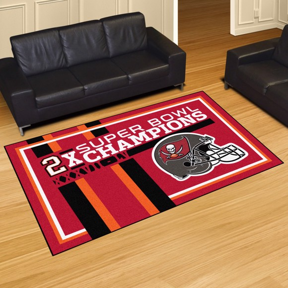 Picture of NFL - Tampa Bay Buccaneers Super Bowl LV Champions Dynasty 5X8 Plush Rug