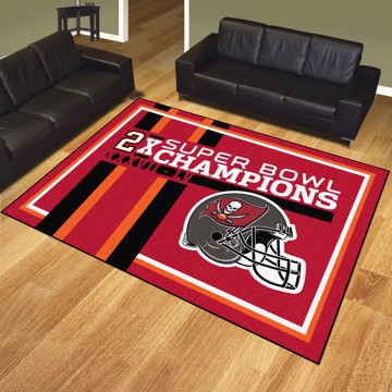 Picture of NFL - Tampa Bay Buccaneers Super Bowl LV Champions Dynasty 8X10 Plush Rug
