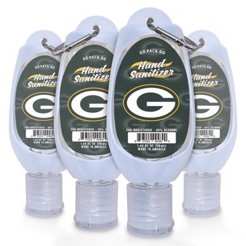 Picture of Green Bay Packers 1.69 oz Travel Keychain Sanitizer