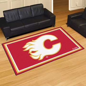 Picture of NHL - Calgary Flames 5'x8' Plush Rug