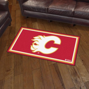 Picture of NHL - Calgary Flames 3'x5' Plush Rug
