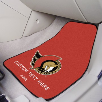 Picture of NHL - Ottawa Senators Personalized Carpet Car Mat Set