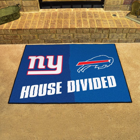 Picture of NFL House Divided - Broncos / Chiefs House Divided Mat
