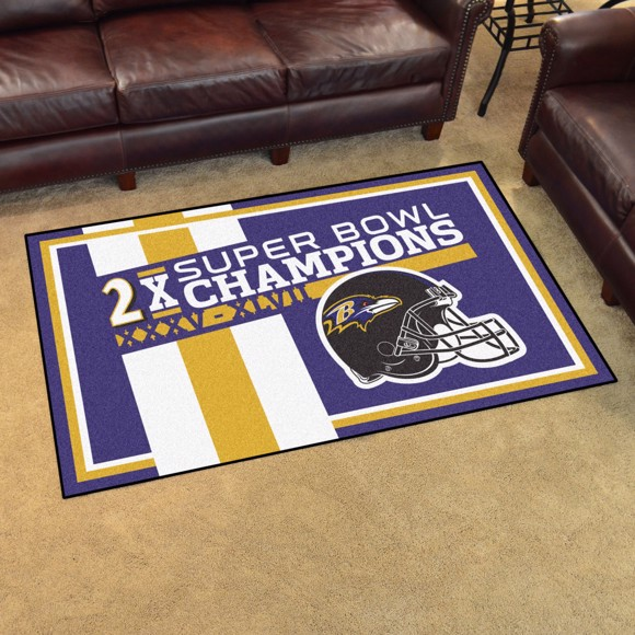 Picture of Baltimore Ravens Dynasty 4x6 Rug
