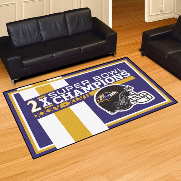 Picture of Baltimore Ravens Dynasty 5x8 Rug