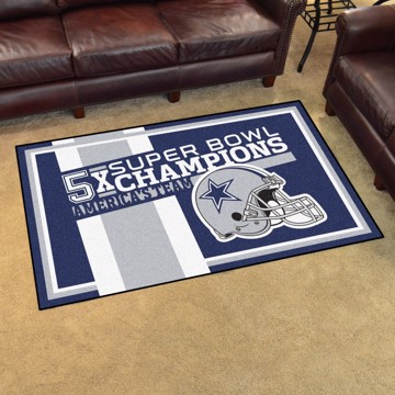 Picture of Dallas Cowboys Dynasty 4x6 Rug