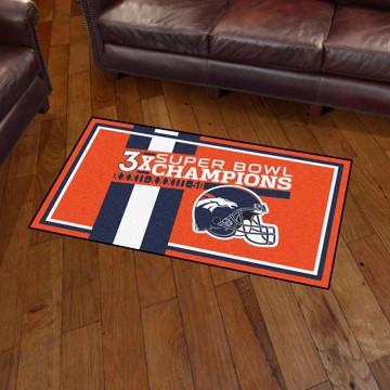 Picture of Denver Broncos Dynasty 3X5 Rug
