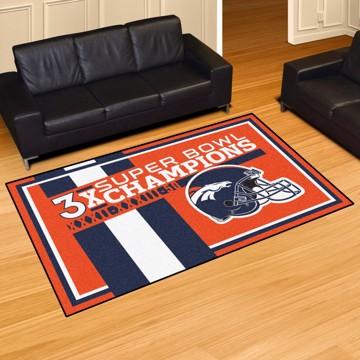 Picture of Denver Broncos Dynasty 5X8 Rug